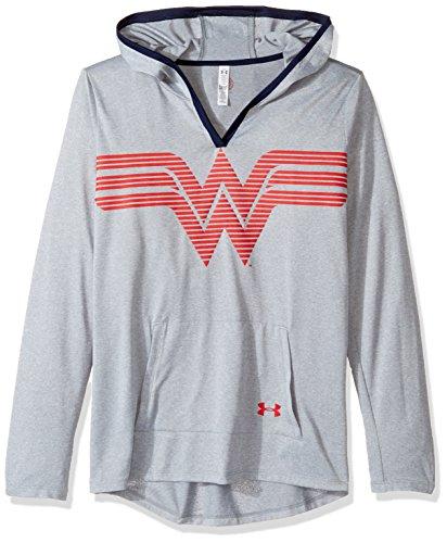 安德玛Under Armour女孩款Alter Ego Wonder Woman UA Tech连帽衫