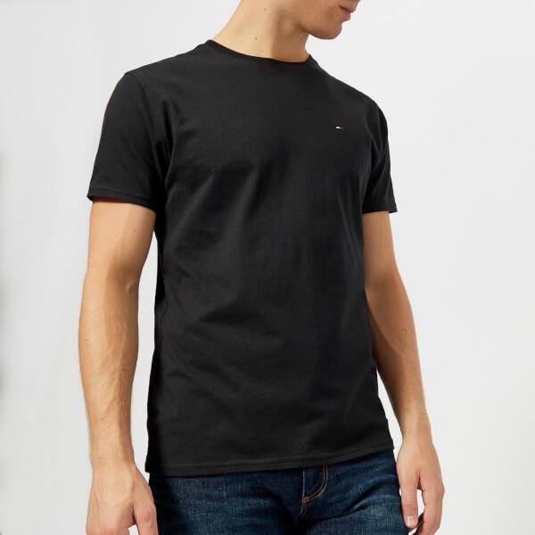 汤米·希尔费格Tommy-Jeans男式Original针织T恤- Tommy黑色