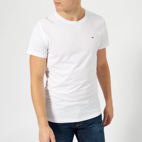汤米·希尔费格Tommy-Jeans男式Original针织T恤-经典白色