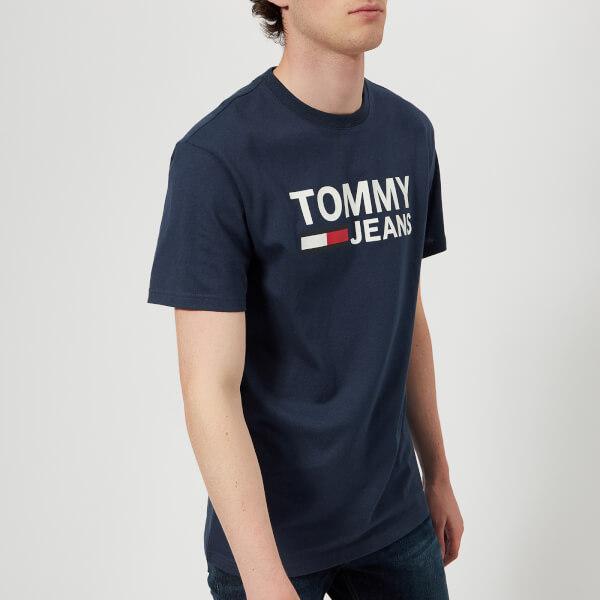 汤米·希尔费格Tommy-Jeans男式Tommy经典LogoT恤-黑色Iris