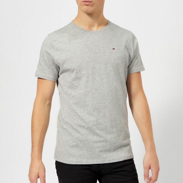 汤米·希尔费格Tommy-Jeans男式Original针织T恤-浅麻灰色