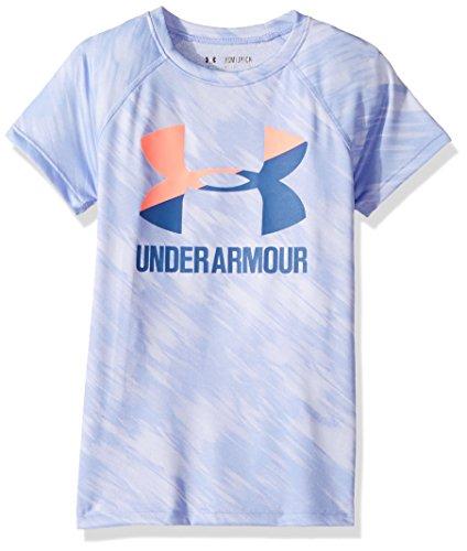 安德玛Under Armour女孩款Novelty Big Logo短袖T恤