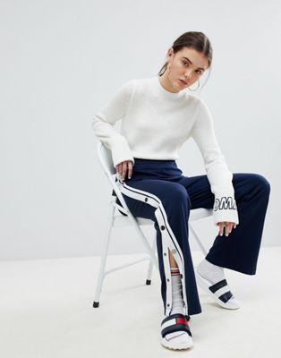 汤米·希尔费格Tommy-Jeans Snap裤子(女款)