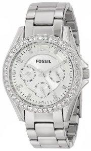 化石Fossil ES3202 Riley多功能女式不锈钢表带腕表