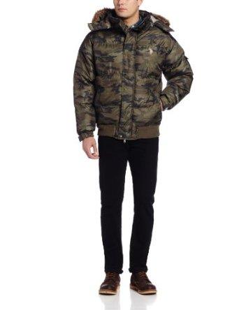 美国马球协会U.S. Polo Assn.男式短款裤羽绒外套