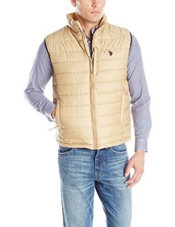 美国马球协会U.S. Polo Assn.男式全拉链间棉棉服背心