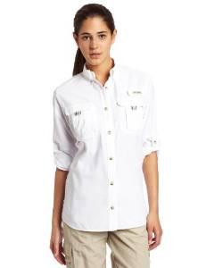 哥伦比亚Columbia女式Bahama长袖衬衣