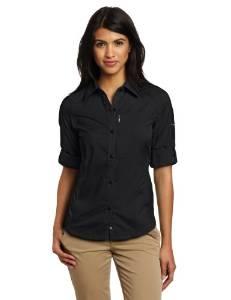 哥伦比亚Columbia女式银色Ridge长袖衬衣