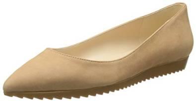 玖熙Nine West女式Otherhalf Nubuck芭蕾平底鞋