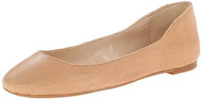 玖熙Nine West女式Adorabl皮质芭蕾平底鞋
