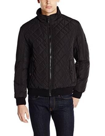 卡尔文克莱恩Calvin Klein男式间棉短款夹克