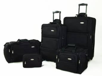 新秀丽Samsonite行李箱软壳旅行箱拉杆箱5件套