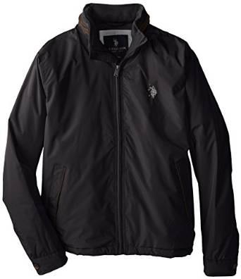 美国马球协会U.S. Polo Assn.男式羊毛衬里Piped外套