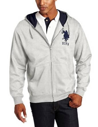 美国马球协会U.S. Polo Assn.男式帽衫带大马标