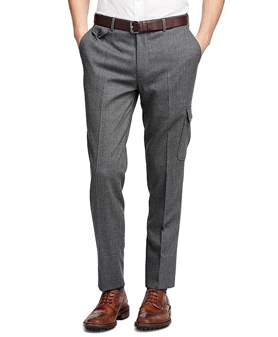 布克兄弟Brooks Brothers法兰绒正装裤子
