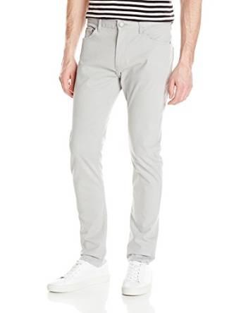 卡尔文克莱恩Calvin - Klein -牛仔男式锥型小脚棉缎裤子