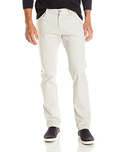 卡尔文克莱恩Calvin Klein男式修身剪裁4口袋弹力棉缎Pant,Steam,34Wx32L